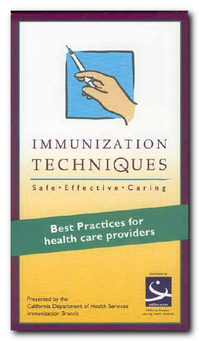 Immunization Techniques - a video showing the proper method of immunizing with safety products